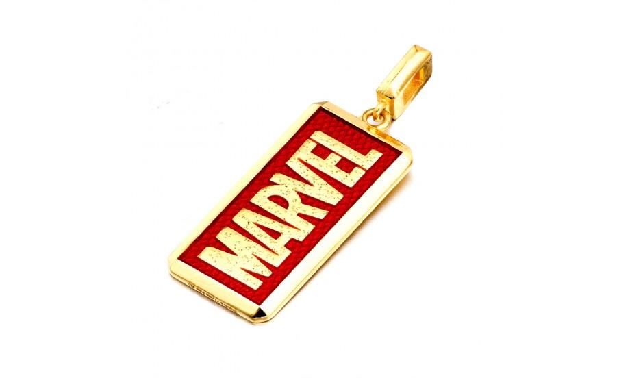 周大福「 Marvel」系列 Marvel logo足金吊墜