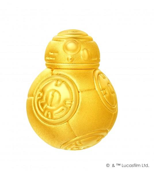 《星球大戰 : 原力覺醒》BB-8足金工藝精品串飾/吊墜 售價:約HK$1,100起 中央型號:8854