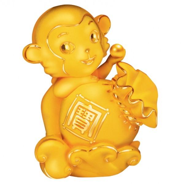 一系列金猴擺件造型生動,最適合向親友和商業伙伴送禮,喻意迎春接福,生意興隆﹗