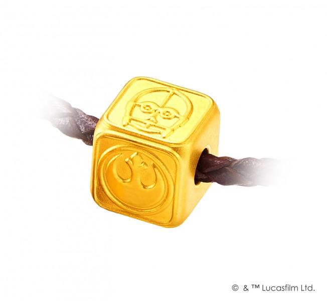 《星球大戰》系列足金工藝精品串飾/吊墜 (Rebel Alliance) 售價:約HK$1,500起 中央型號:8858